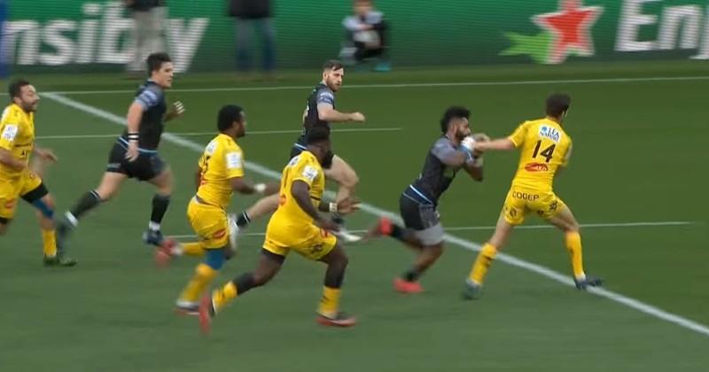 Stade Rochelais : Vincent Rattez danse dans la défense de Glasgow pour l'essai de Priso ! [VIDÉO]