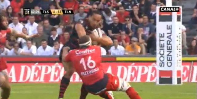 VIDEO. Stade Toulousain - RCT : Hosea Gear met un cul à Jean-Charles Orioli