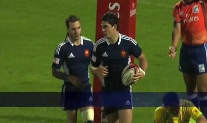 La France élimine les Fidji en 1/4 de finale du Dubaï Sevens !