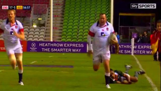 VIDEO. FLASHBACK. 2013. Le talonneur Steve Thompson s'offre un essai de 80 mètres face à l'Australie