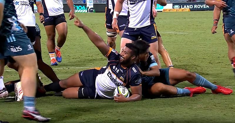 Super Rugby - Folau Fainga'a, talonneur et serial marqueur des Brumbies [VIDEO]
