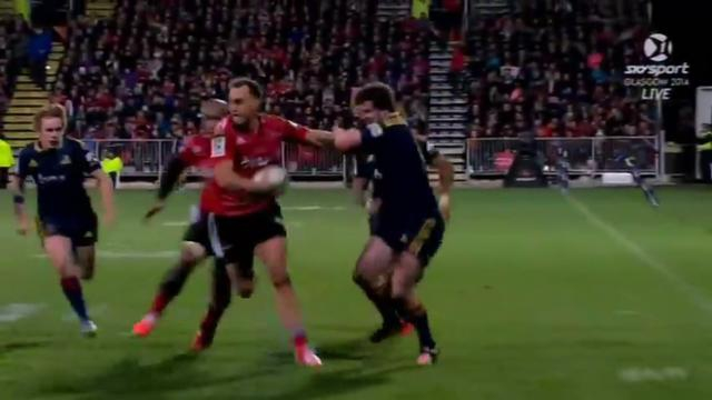 VIDEO. Super Rugby - Israel Dagg se joue de la défense des Highlanders pour un superbe essai