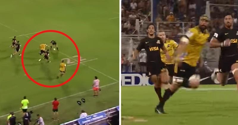 VIDÉO. Super Rugby : la chistéra venue d'ailleurs de Blade Thomson face aux Jaguares