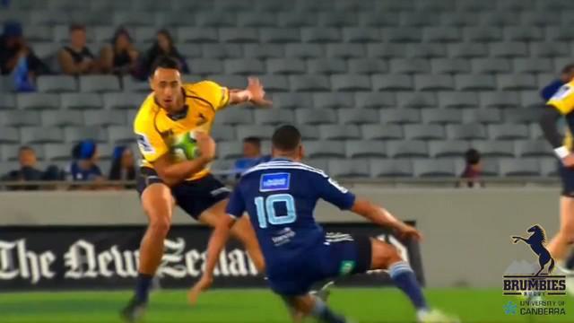VIDEO. Super Rugby. Lausii Taliauli se moque de son adversaire avec son déhanché de folie