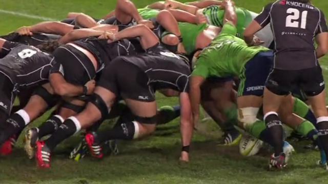 VIDÉO. Super Rugby : La mêlée des Sharks atomise celle des Highlanders