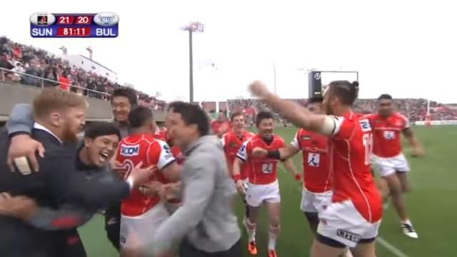 VIDEO. Super Rugby : les Sunwolves battent une équipe sud-africaine pour la première fois de leur histoire !