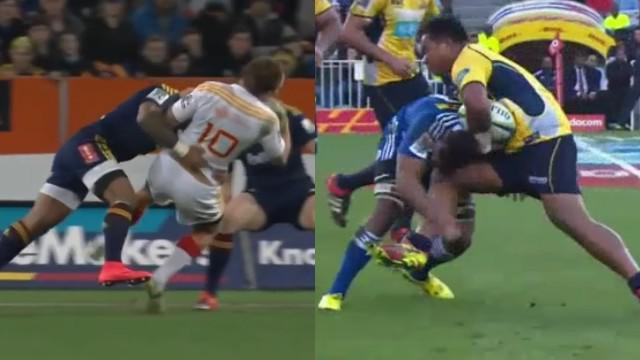 VIDEO. Super Rugby. Malakai Fekitoa désosse Andrew Horrell, Ita Vaea assomme Nizaam Carr