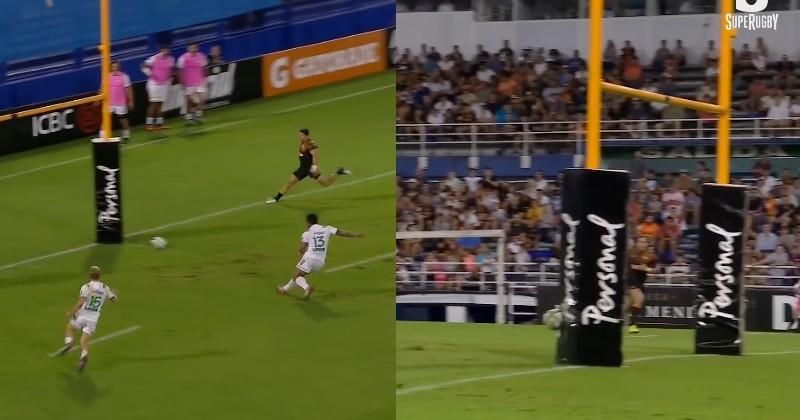 Super Rugby - McKenzie trompe la défense en utilisant le poteau pour l'essai [VIDÉO]