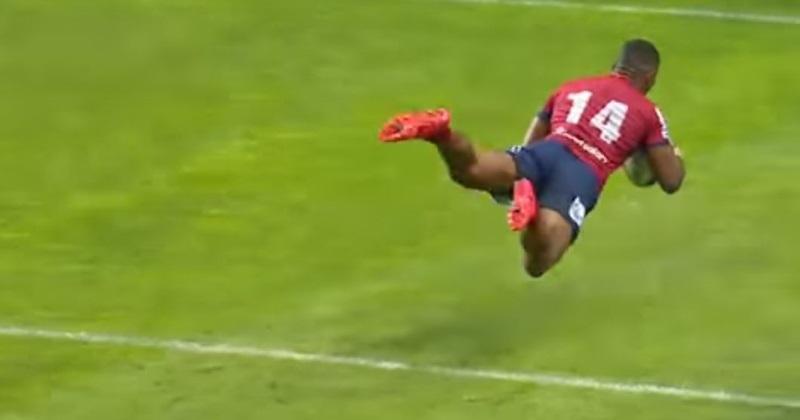 VIDÉO. Super Rugby - Reds : la mobylette Filipo Daugunu accélère et dynamite la défense des Stormers