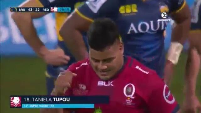 VIDEO. Le phénomène Taniela Tupou marque un essai pour ses débuts en Super Rugby