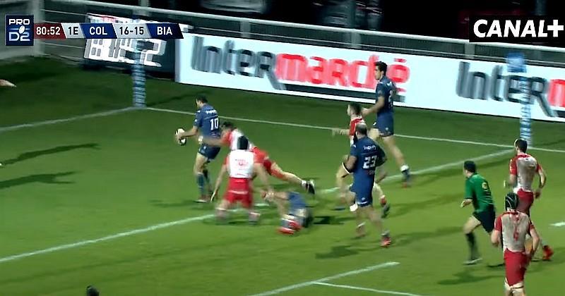 VIDEO. Pro D2. Sur un Essai GAG, Biarritz souffle la victoire à Colomiers à la 80e !