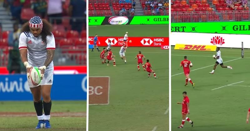 Sydney 7s : les USA donnent une leçon de rugby à 7 avec un essai d'école [Vidéo]