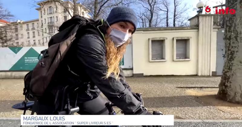 VIDÉO. A vélo, Margaux Louis (ASM Romagnat) aide les personnes vulnérables