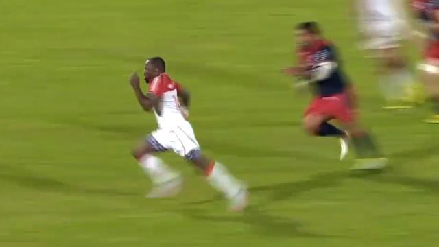 VIDÉO. PRO D2. Takudzwa Ngwenya ouvre la défense de Béziers en deux pour un superbe essai