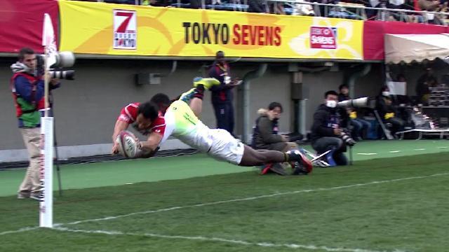 VIDEO. Tokyo Sevens - Le Japonais Jamie Henry sort les propulseurs pour un essai aérien