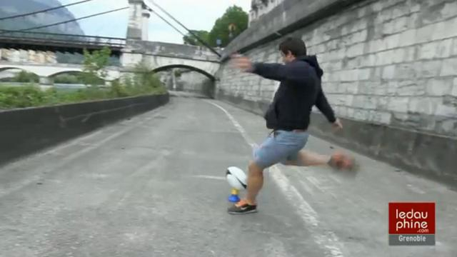 VIDEO. Top 14 - FCG. Quand le Dauphiné Libéré lance un défi un peu fou à Julien Caminati