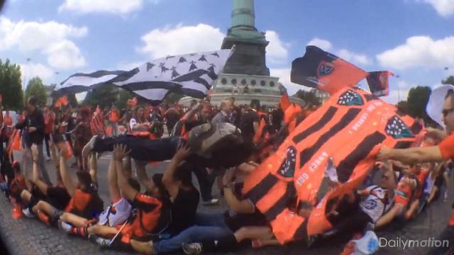 VIDEO. Top 14 - Finale - RCT - CO. Les supporters toulonnais prennent d'assaut la capitale
