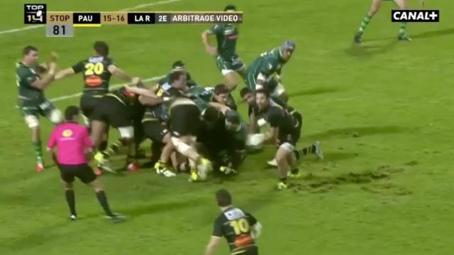 VIDÉO. TOP 14. Grosse polémique arbitrale à la fin du match entre Pau et la Rochelle