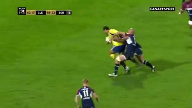 VIDEO. Top 14. John Ulugia fait exploser trois défenseurs pour sortir l'ASM du piège bordelais