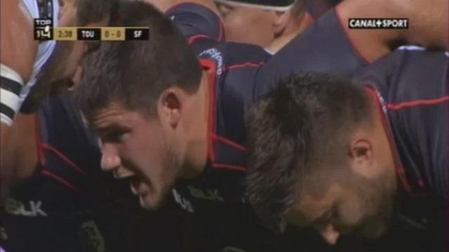 VIDEO. Stade Toulousain - Julien Marchand, 19 ans, fait le job au talon pour son premier match en Top 14 face au Stade Français