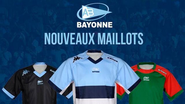 Top 14 - L'Aviron Bayonnais dévoile trois nouveaux maillots pour la saison 2014-2015