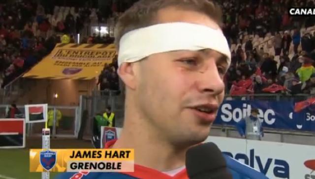 Le demi de mêlée du FC Grenoble, James Hart, attise la curiosité de l'Irlande
