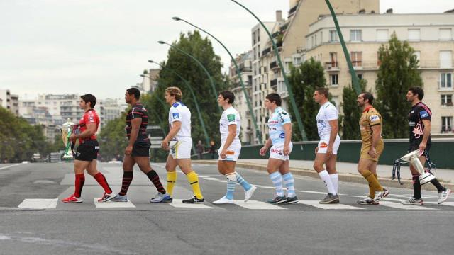 VIDEO. Coupe d'Europe : les capitaines du Top 14 se la jouent Beatles