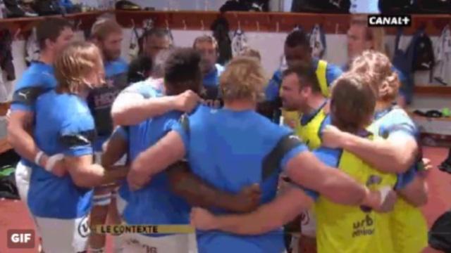 GIF. Top 14 : les avants de Montpellier se motivent avec des coups de tête avant de défier le Stade Toulousain