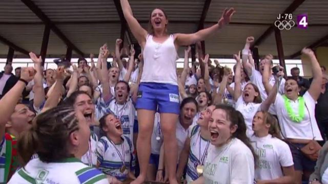 VIDÉO. Top 8. Les filles du LMRCV l'emportent contre Montpellier pour devenir championnes de France