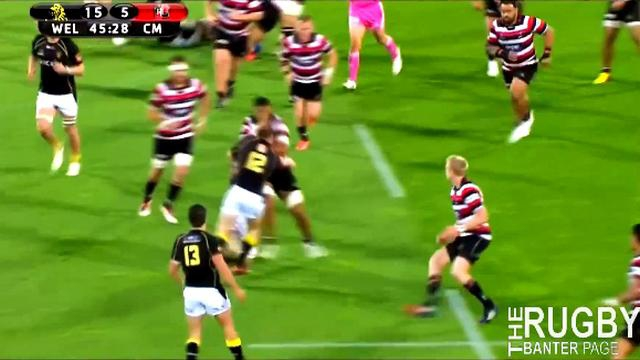VIDEO. ITM Cup : L'arrachage de balle ultra efficace de Shaun Treeby pour l'essai surprise avec Wellington