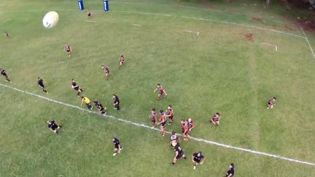 VIDEO. Les images spectaculaires d'un match de rugby filmé par un drone