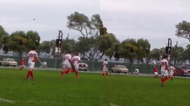VIDEO. INSOLITE. En pleine balade, une cycliste se fait assommer par un ballon de rugby