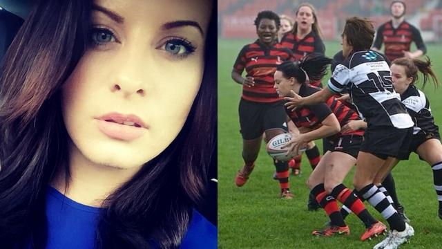 PHOTOS. Une rugbywoman anglaise fait monter la température