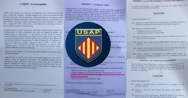 TOP 14 - Insolite : L'USAP s'invite... à l'examen national du BTS