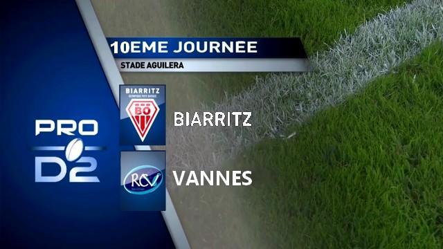 VIDÉO. Pro D2 - Vannes s'offre Biarritz pour un premier succès à l'extérieur
