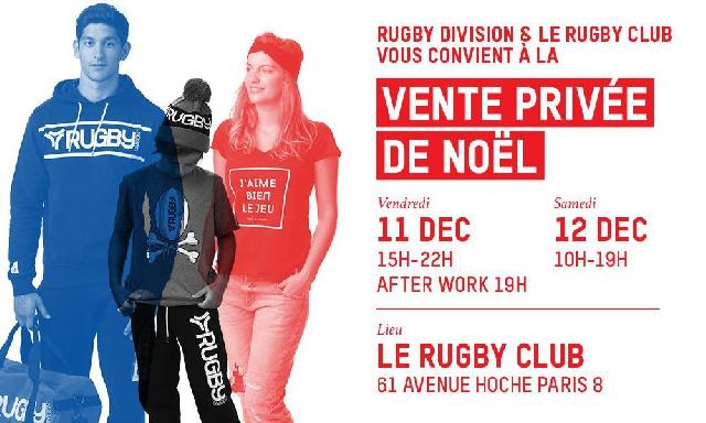 Cadeaux à gagner + Remise supplémentaire de 5% spéciale Rugbynistère sur la Vente Privée Rugby Division !