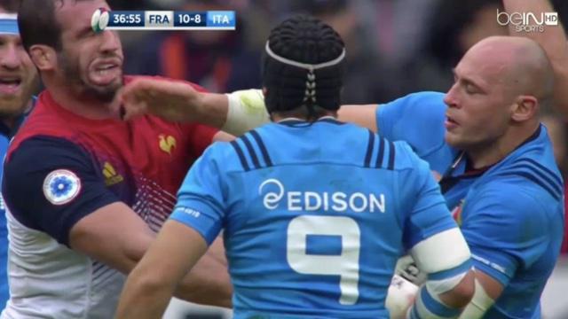VIDÉO. Un essai, une gifle, un drop raté... le drôle de match de Sergio Parisse contre la France