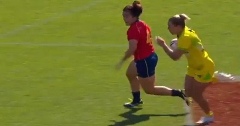 VIDEO. Rugby à 7 : le triple inter-exter' d'Emma Tonegato donne le tournis à la défense de l'Espagne