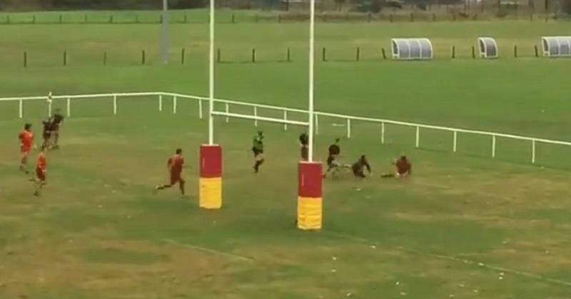 VIDEO. Rugby Amateur : il file à l'essai mais se fait surprendre dans l'en-but comme Freddie Burns