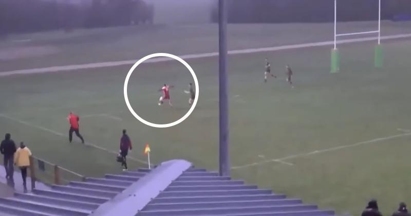 VIDÉO. Rugby Amateur : il réussit un contrôle de balle... du pied hallucinant pour marquer l'essai