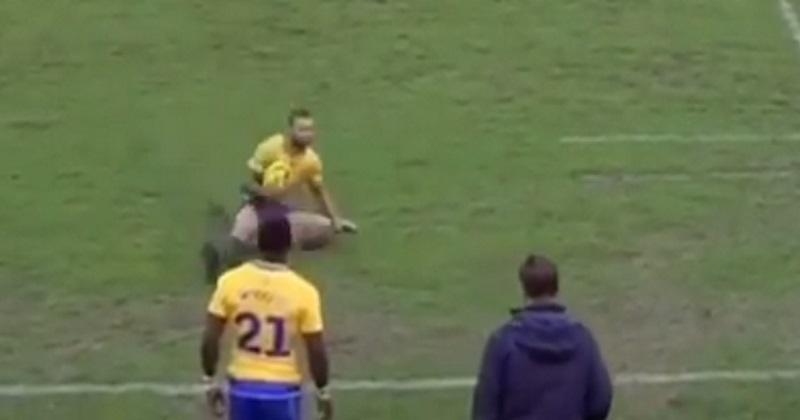 VIDEO. WTF : l'incroyable geste technique de Quade Cooper pour sauver une touche