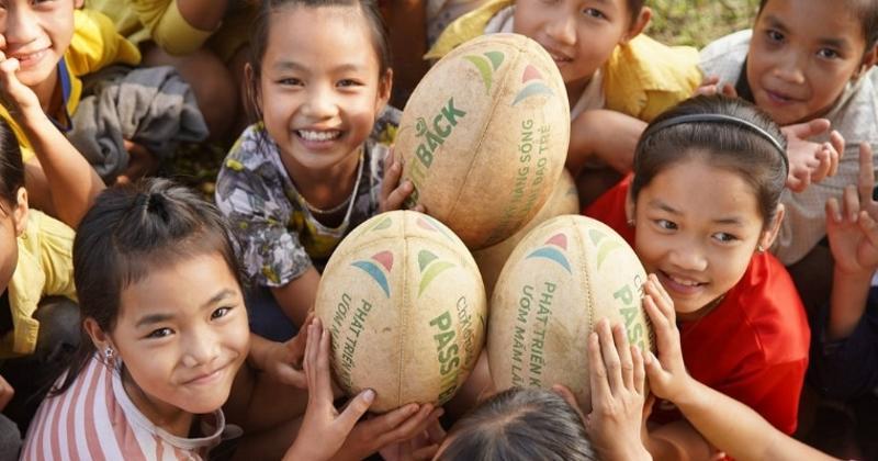 VIETNAM : ChildFund Pass it Back, le superbe projet ''Rugby et social'' de l'association Un Enfant par la Main