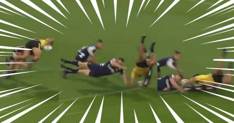 VIDEO. Super Rugby - Hurricanes. Vince Aso s'envole contre les Highlanders pour un essai spectaculaire