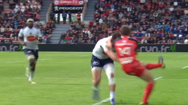 VIDEO. Top 14 - Stade Toulousain : Vincent Clerc se fait punir par Tamaz Mchelidze pour l'essai du SUA
