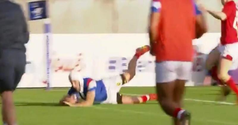 De Nardi envoie Pinto dans l'en-but pour l'essai du bonus des Bleuets face aux Gallois [Vidéo]