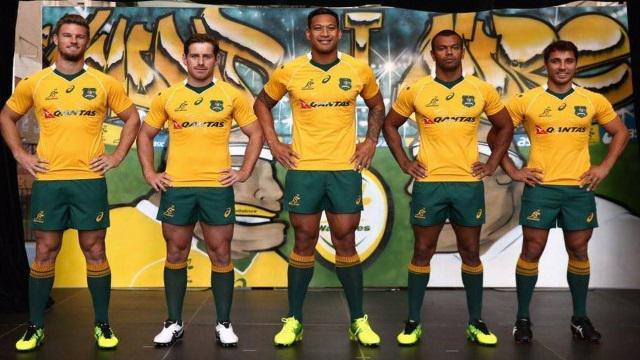 WALLABIES. Découvrez le nouveau maillot de l'Australie pour la saison 2016