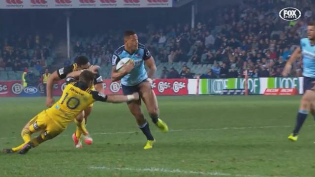 VIDEO. Super Rugby : le superbe essai d'Israel Folau après un tchik-tchak dans un mouchoir de poche