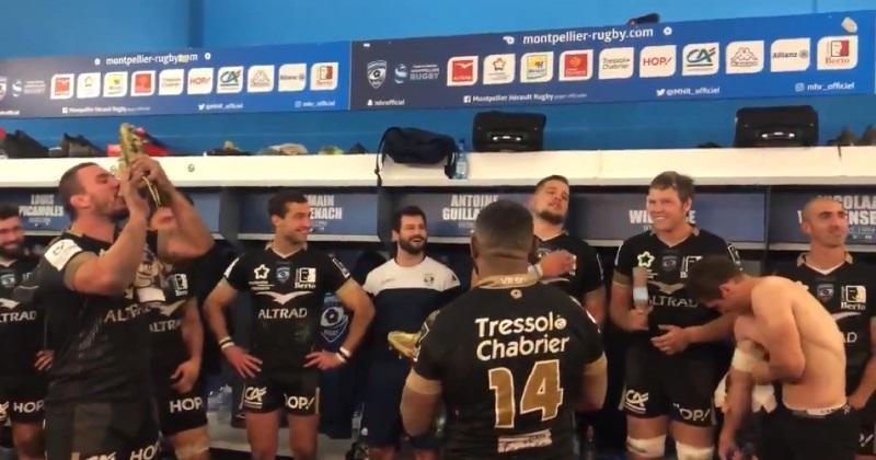 WTF : la belle Marseillaise de Paul Willemse dans les vestiaires pour fêter la victoire du MHR