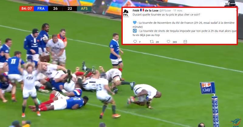 WTF : la Fédération Française de la Lose se régale après la défaite des Bleus face aux Springboks