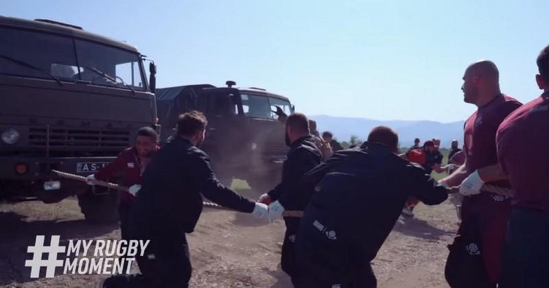 WTF - Les Géorgiens musclent leur préparation sur une base militaire et ça pique [VIDÉO]